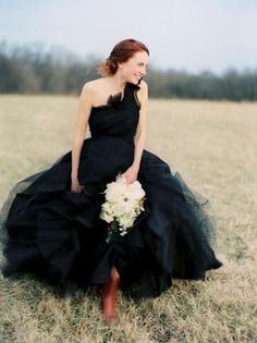 Black Wedding Gown Off the Beaten Path: The Black Wedding Dress