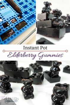 These healthy, yummy, easy to make, natural elderberry gummies made IN the instant pot! They are a MUST have for your home medicine cabinet! via /AFHomemaker/ Elderberry Gummies, Elderberry Recipes, Elderberry Syrup, Elderberry Medicine, Herbal Medicine, Instant Pot Pressure Cooker, Pressure Cooker Recipes, Pressure Cooking, Home Medicine