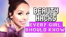 Beauty hacks every girl should know. Diy Beauty Face, Beauty Makeup Tips, Beauty Hacks Video, Beauty Secrets, Beauty Care, Beauty Products, Hair Beauty, Girl Tips, Girl Hacks