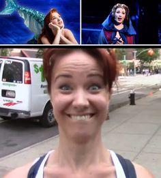 Sierra Boggess onstage vs Sierra Boggess offstage. This picture was during Ramin's (Karimloo) vlog!!