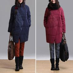 2colors women  duck down linen wine red  Down jacket  by Aolo, $169.00