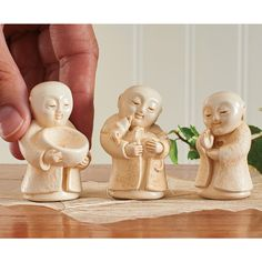 Protector of Animals Jizo Statue Set -  Jizo is the protector of women, children and travelers in the six realms of existence. He is often depicted as a child-monk.