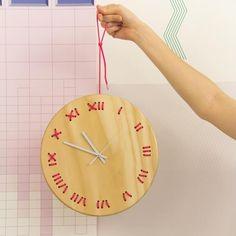 Fun stitched wall clock