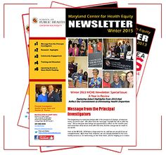 MCHE Newsletters   UMD School of Public Health Social Determinants Of Health, Public Health, Maryland, Messages, School, Text Posts, Text Conversations