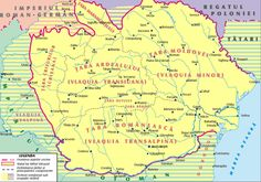 Romania, during the rule of Michael the Brave / Romania in timpul domniei lui Mihai Viteazul History Page, History Facts, World History, Family History, History Of Romania, 27 Mai, Romania Map, Visual Map, My Ancestors