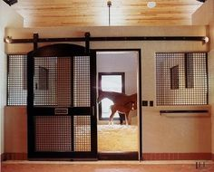 Simple, yet still so beautiful! Good idea for horse stalls.