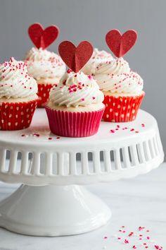Homemade Funfetti Cupcakes from @bakingaddiction