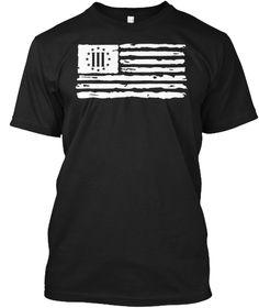 Three Percenter Distressed American Flag T-Shirt & Hoodie.