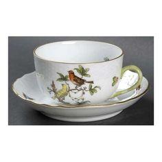 Herend Rothschild Bird (Ro) Flat Cup , Hungary,.....................d