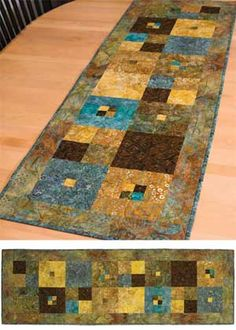 Soho Table Runner  http://www.keepsakequilting.com/productdetail/7856/---SOHO-TABLE-RUNNER-PATTERN.htm#    Seems like a great Christmas gift project (quick and easy).