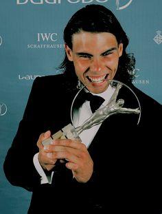 "rogersnadal: ""Throwback: Rafael Nadal ↳ 'Newcomer of the Year' Award Winner at the Laureus World Sports Awards ⇛ May 22, 2006 """