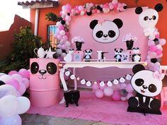 Jay D'Event Stylist By:arncamugao design. Panda Themed Party, Panda Birthday Party, Panda Party, Baby Birthday, 1st Birthday Parties, Birthday Party Decorations, Party Themes, Panda Baby Showers, Pink Panda