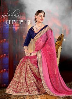 Breathtaking Pink Zari Work Designer Saree