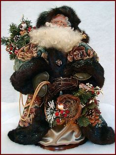 Winter Berry Santa Handcrafted by Kati