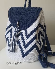 New Designs for FREE crochet bag pattern images Easy And Stylish! - Page 61 of 61 - Beauty Crochet Patterns! Crochet Backpack Pattern, Free Crochet Bag, Bag Pattern Free, Crochet Basket Pattern, Crotchet Bags, Knitted Bags, Crochet Handbags, Crochet Purses, Tricot Facile