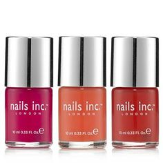 Nails Inc 3 Piece Juicy Sheers Collection