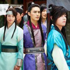 Hwarang cast Do jihan, taehyung & minho Korean Star, Korean Men, Korean Actors, Korean Dramas, Go Ara, Park Hyung Sik, Do Jihan, K Drama, Park Seo Joon