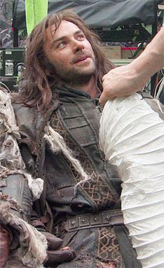 """deanogorgeous-x: """"""""We're the most useless race. When the camera's off. I mean, the state of us. We're all just half baked and dead by the side of the set. Fili Und Kili, Kili And Tauriel, Aidan Turner Kili, Aiden Turner, Rr Tolkien, Tolkien Books, The Hobbit Movies, O Hobbit, I Love The Lord"""