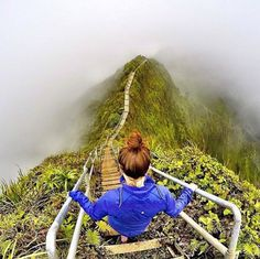 Haiku Stairs, Oahu, Hawai                                                                                                                                                                                 More