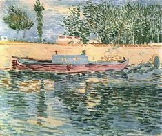 Vincent van Gogh: The Paintings (The Banks of the Seine with Boats), 1887. Private collection.