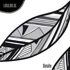 Vinilo para muebles de hojas geométricas lineales / Vinyl for furniture of geometric leaves. #lokolokodecora #viniloparamuebles