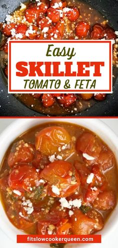 This super easy tomato and feta recipe is healthy, delicious, and screaming your name. It's quick to make in a skillet and is pretty much effortless! Healthy Slow Cooker, Pressure Cooker Recipes, Slow Cooker Chicken, Best Crockpot Recipes, Beef Recipes, Queens Food, Delicious Dinner Recipes, Whole 30 Recipes, Meat Recipes