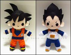 Chibi Goku and Vegeta by Serenity-Sama on deviantART