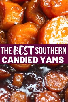 The Best Southern Candied Yams Click the link for the FULL recipe. Easy and so very good! Candied yams is a old fashioned side dish that's slow cooked in a candied mixture on the stove-top with warm spices, sugar and butter. Stove Top Candied Yams, Candied Yams Easy, Southern Candied Yams, Candied Sweet Potatoes, Best Candied Yams Recipe, Can Yams Recipe, Recipe For Canned Yams, Sweet Potato Recipes, Vegetable Dishes