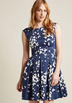 Closet London Fluttering Romance A-Line Dress in Butterflies