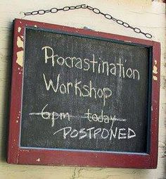 Procrastination workshop