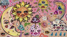 Psychedelic Drawings, Trippy Drawings, Art Drawings, Arte Indie, Trippy Painting, Funky Art, Hippie Art, Aesthetic Art, Cute Art