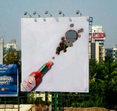 Here are the Best 100 Guerilla Marketing examples I've seen. Guerrilla Marketing (Guerilla Marketing) takes consumers. Creative Advertising, Guerrilla Advertising, Ads Creative, Print Advertising, Advertising Campaign, Print Ads, Out Of Home Advertising, Street Marketing, Marketing Viral