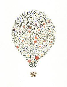 hot air balloon flowers - Google Search