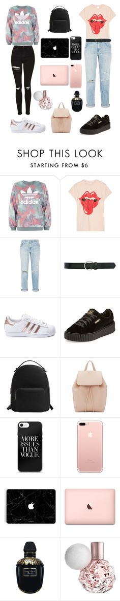 """BFF'S💅🏼"" by ale-needam on Polyvore featuring adidas, MadeWorn, Current/Elliott, M&Co, Puma, MANGO, Mansur Gavriel and Alexander McQueen"