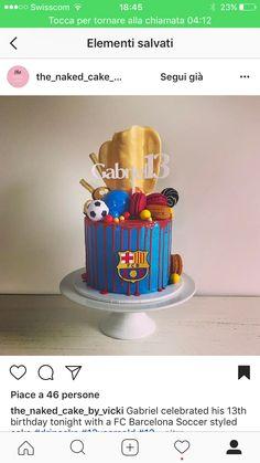 13th Birthday, Birthday Cake, Barcelona Cake, Drip Cakes, Cake Ideas, Naked, Birthdays, Deco, Desserts