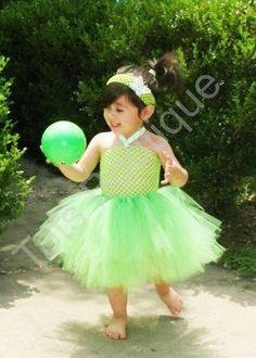 Tutu Dress - Tinkerbell Inspired (Infant). $25.00, via Etsy.