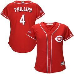 womens authentic alternate red cincinnati reds brandon phillips jersey cool base mlb majestic
