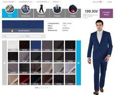 Evolución compras online: Nuevo Diseñador 3D de Trajes a Medida personalizables