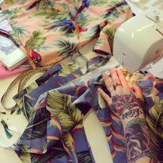 Hawaiian Shirt Masterclass in studio.