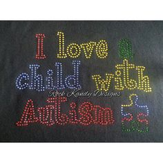 Autism Awareness Rhinestone Tee by KandyCoat on Etsy, $25.00