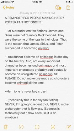 What to remember when you write Harry Potter fan fiction