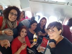 BEWARE ... Bridal party onboard! Welcome back from Paris, France to a lovely group of friends who celebrated a bride-to-be with a long weekend in the most romantic city 🗼 Ms. Sarah Vella and her friends were welcomed on board flight KM478 with a surprise public announcement and champagne for all! We hope the bridal celebrations contributed to a fun-filled holiday and an unforgettable flight experience ;) Congratulations on your upcoming marriage Sarah!  #airmalta #wecaremore #bagsflyfree