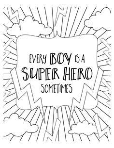 FREE Super Hero Coloring Pages. Get the free download at lilluna.com