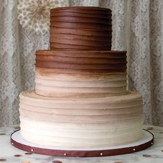 Tiered Wedding Cakes are now available at Magnolia Bakery - Horizontal Swipes Chocolate Wedding Cake from the Classics Collection at Magnolia Bakery - Vegan Wedding Cake, Fall Wedding Cakes, Wedding Cake Designs, Chocolate Wedding Cakes, Wedding Ideas, Spring Wedding, Mr Mrs Cake Toppers, Rustic Cake Toppers, Cupcakes