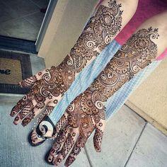 Indo arabic bridal henna