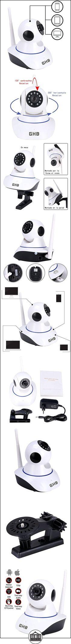 GHB IP Cámara de Vigilancia HD Vigilabebés Cámara Seguridad Interior P2P WiFi 1280x720 Compatible Movil iOS Android Tablet PC Computador  ✿ Vigilabebés - Seguridad ✿ ▬► Ver oferta: http://comprar.io/goto/B01H1HYFKA