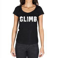 climb Women's Short Sleeve Rounded Neck T-shirt #climbingshirt #climbingoutfitwoman
