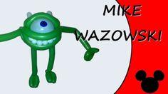 Video tutorial on how to make Mike Wazowski with balloons twisting #MikeWazowski #Wazowski
