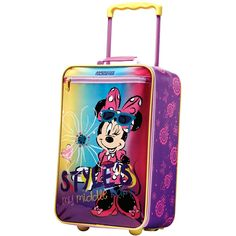 """American Tourister - Disney 18"""" Upright Suitcase - Minnie mouse polka dot"""
