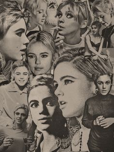 i love because: another really cool idea, to cut up all the photos we take a put them together as a collage - could make for a really amazing album cover edie sedgwick Andy Warhol, Santa Barbara, Poor Little Rich Girl, Edie Sedgwick, Chelsea Girls, Pop Art, Patti Smith, Studio 54, Timeless Beauty
